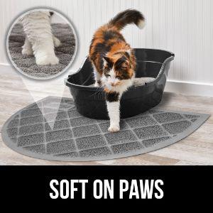 Gorilla Grip Original Premium Durable Cat Litter Mat – Half Circle