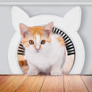 PAWSM Cat Door with Removable Brush
