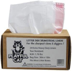 PLAYFUL PET Cat Litter Box LIners