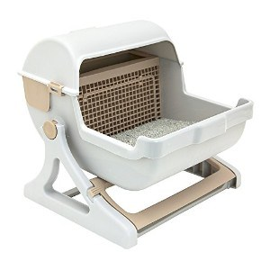 Le You Pet Semi-Automatic Quick Cleaning Cat Litter Box