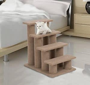 PawHut Carpeted Pet Stairs