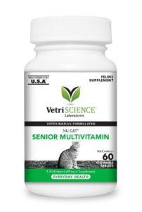 VetriScience Laboratories - NuCat Senior Multi Vitamin for Cats, 60 Chewable Tablets