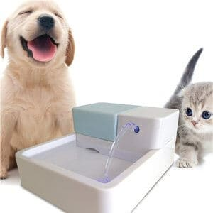 Uniclife Pet Water Fountain Dog Cat Automatic Electric Drinking Bowl with LED Light