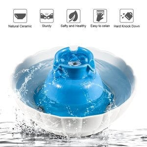 YOUTHINK Pet Fountain Ceramic Cat Water Fountain