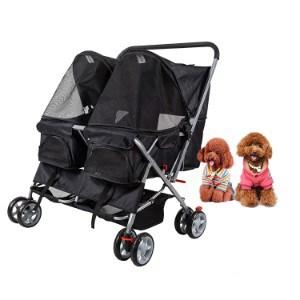 Dporticus 4 Wheel Pet Stroller