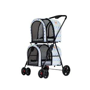 WMS Double Pet Stroller Dog/cat Trolley