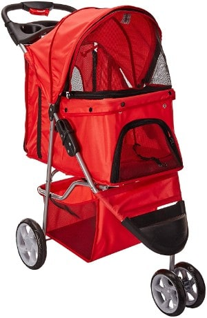 OxGord 3 Wheeler Pet Stroller for Dogs and Cats