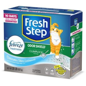 Fresh Step Scented Litter with The Power of Febreze, Clumping Cat Litter
