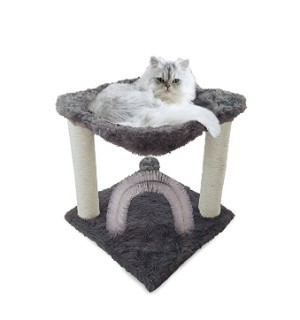 Furhaven Pet Tiger Tough Scratching Posts Cat Furniture