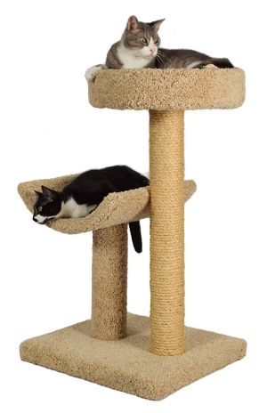 Simple Sleeper Cat Scratch Post and Bed