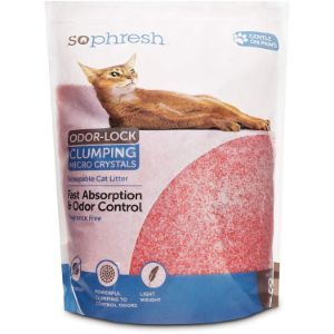 So Phresh Scoopable Odor-Lock Clumping Micro Crystal Cat Litter