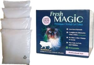 FreshMAGIC Large Chunk Style Non-Clumping Crystal Cat Litter
