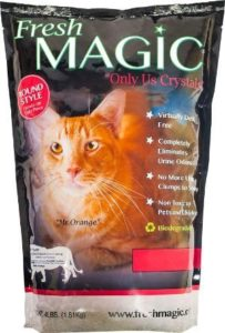 FreshMAGIC Round Style Low-Dust Crystal Cat Litter