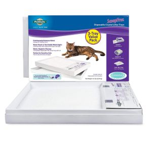 PetSafe ScoopFree Self-Cleaning Cat Litter Box Tray Refills with Sensitive Non-Clumping Crystals