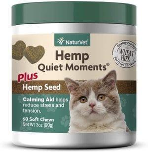 NaturVet – Hemp Quiet Moments Calming Aid For Cats
