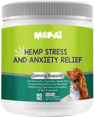ZPAW MOKAI Hemp Calming Treats for Dogs and Cats