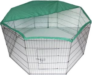 Bunny Business Pen Enclosure with Net Cover-min