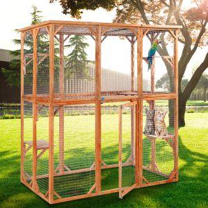 JAXPETY Outdoor Cat Play Enclosure-min