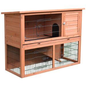 PawHut 48 Wooden 4 Door Enclosure with Ramp-min