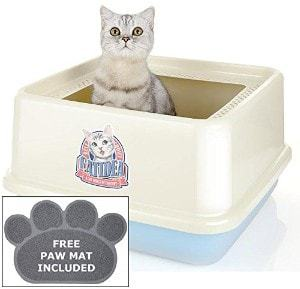 CatIdea Luxury Sifting Top Entry Cat Litter Box