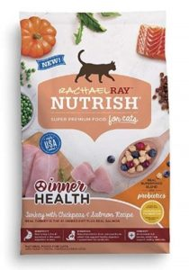 . Rachael Ray Nutrish Inner Health Natural Dry Cat Food, Turkey With Chickpeas & Salmon Recipe