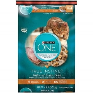 . Purina ONE True Instinct Grain Free High Protein, Natural Formula Adult Dry Cat Food